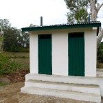 Photo of the completed latrine block