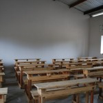 Photo of the finished classroom and benches