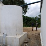 Photo of the finished water tank